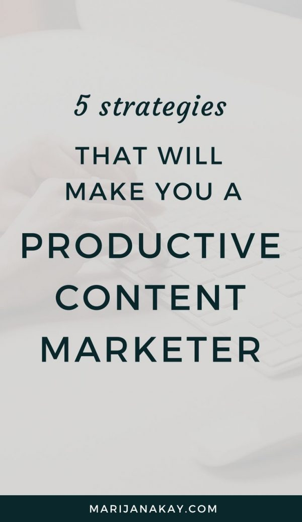 This blog post is packed with tips on editing your blog posts faster, batching tasks together, single tasking, and much more. Click through for all you need to make your content marketing productive!