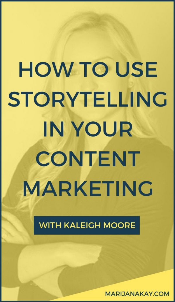 In this interview with the freelance writer Kaleigh Moore, we chat all about telling stories in content marketing to attract the right audience and stand out from your competitors. Tune in by clicking through!