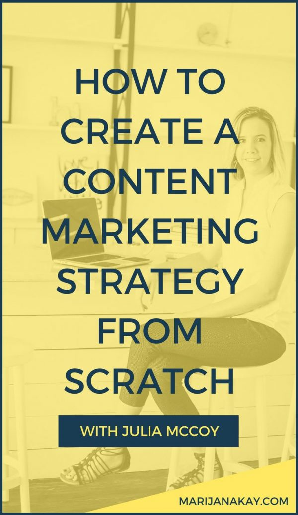 In this interview I chat with Julia McCoy, the CEO of Express Writers, who talks all about creating a content marketing strategy from scratch, including setting goals, choosing content formats, and much more. Click through to learn from Julia!