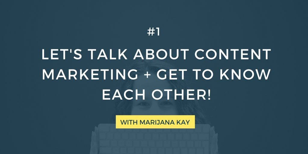 Are you all about content marketing, strategy, planning, and writing? I want to hear from you and chat about content and blogging with you!
