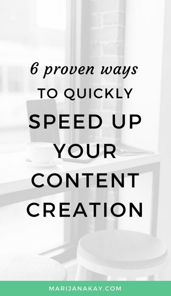 In this post, I take you through my favorite ways to create your content more quickly, including templates, workflows, batching, and more. You'll learn about my favorite productivity tools and resources, too. Click through to read more!