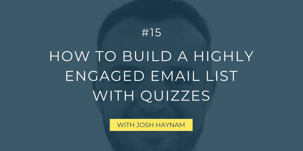Looking for a fresh and powerful way to build up your email list? Follow Josh's tips and have a strong email marketing strategy as a result!