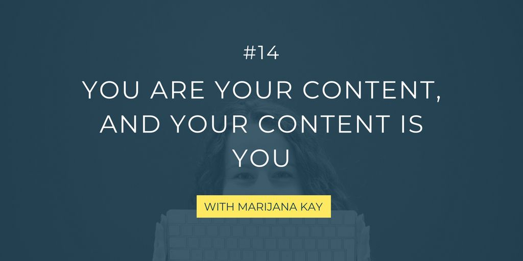 Is your personality, your wins, and your challenges showing through your content marketing, too? They probably should. Check out this short episode to learn why!