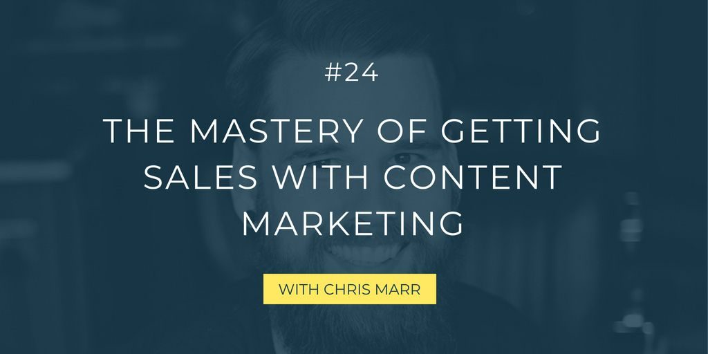 Are you creating a lot of content, but you're struggling to grow your business with it through revenue? Learn tips to strategically sell with content marketing from Chris Marr.