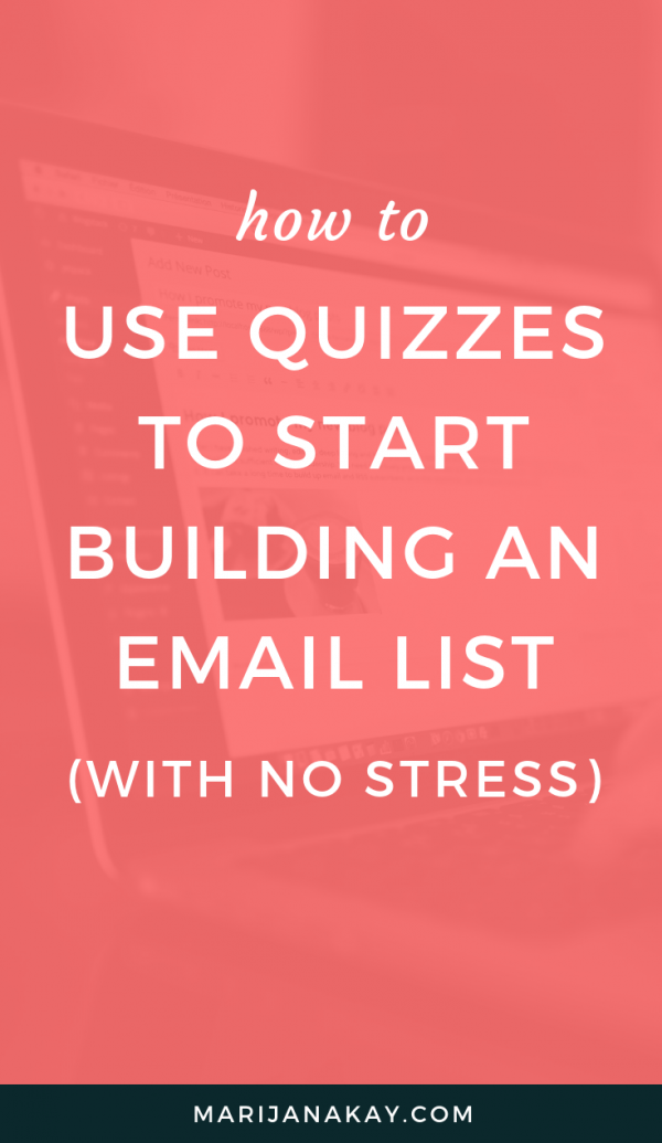 Want to build an email list, but it always felt intimidating or like too much work? In this post, I take you through an email marketing kickoff strategy that will get you on the right path in your business right away.