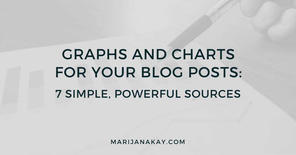Graphs and Charts For Your Blog Posts: 7 Simple + Powerful Sources