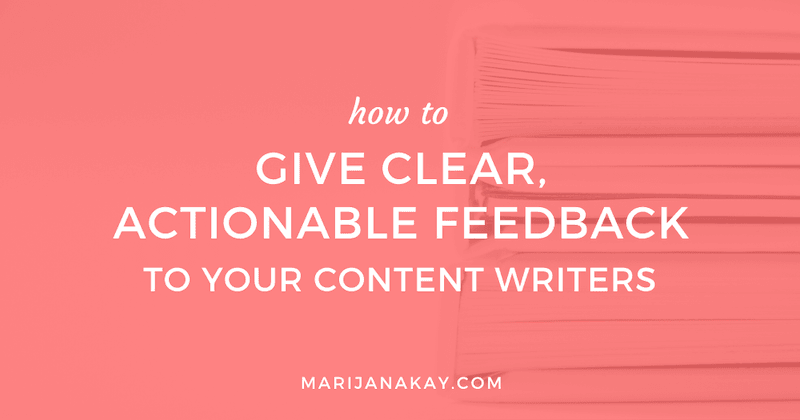 How to Give Clear, Actionable Feedback to Your Content Writers